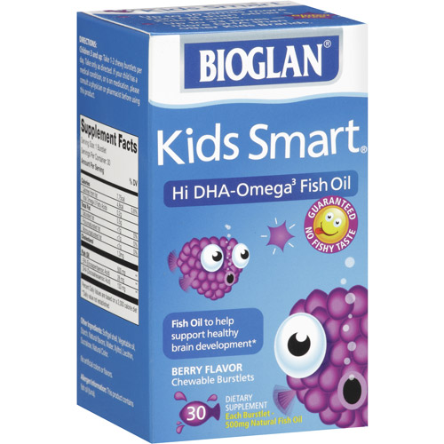 Bioglan Kids Smart Fish Oil Chewable Burstlets, 500mg, 30ct