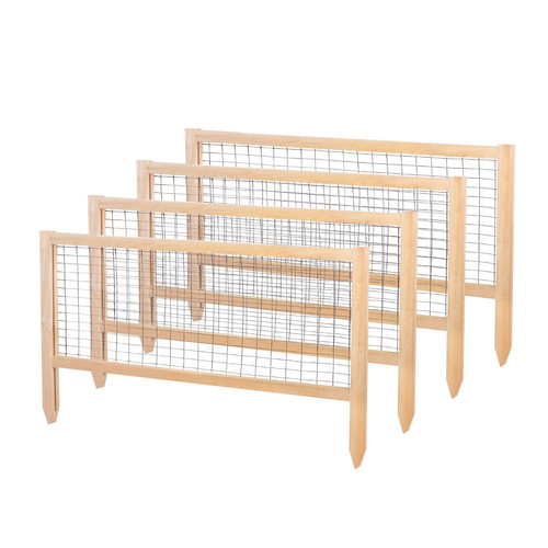 Greenes Fence 23.5 in. x 45 in. Critter Guard Cedar Garden Fence (Set of 4) by Greenes Fence