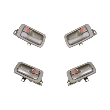 CF Advance For 92-96 Toyota Camry Front or Rear Left or Right SET 4PCS Interior Inside Door Handle Brown 1992 1993 1994 1995 1996 1995 1996 Toyota Corolla Door