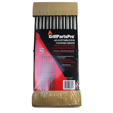 "GrillPartsPro Brinkmann BBQ Grill Adjustable 6"" Cooking Grate 812-7241-S2"