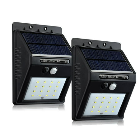 16 LED Outdoor Solar Powered Wireless Waterproof Security Motion Sensor Light - 2pc ()
