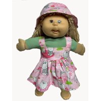 Doll Clothes Superstore Kitten Jumper Blouse And Hat Fits Cabbage Patch Kid and 15-16 Inch Baby Dolls