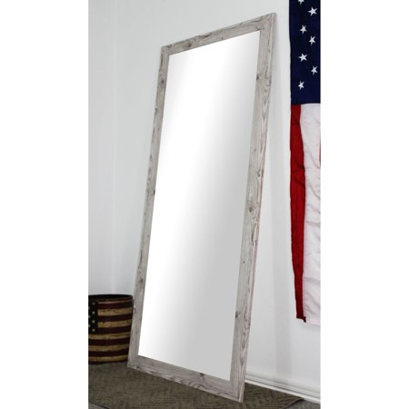 Rayne Mirrors U.S. Made Full Body/Floor Mirror - White Washed ...