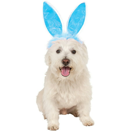 Blue Easter Bunny Rabbit Ears For Pet Dog Costume Accessory Set Small Medium
