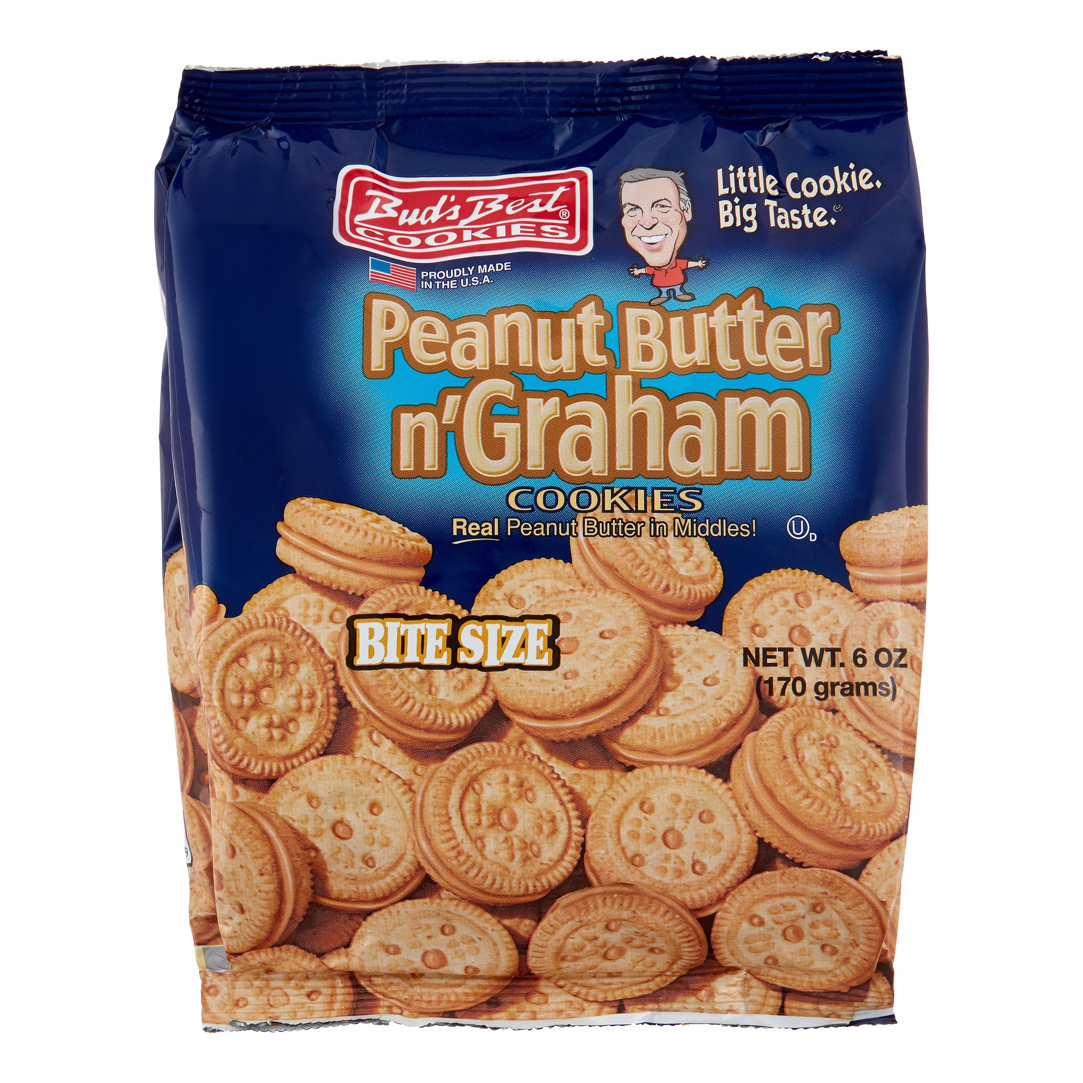 Buds Best Cookies, Peanut Butter & Graham, 6 Oz