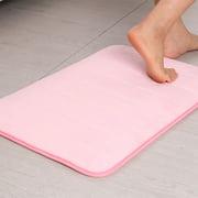 Memory Foam Absorbent Bath Floor Non-slip Mat Rug Shower Carpet Home Decoration Pink 24 x 16 Inch