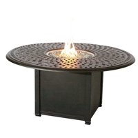 "Darlee 60"" Round Patio Propane Fire Pit Dining Table"