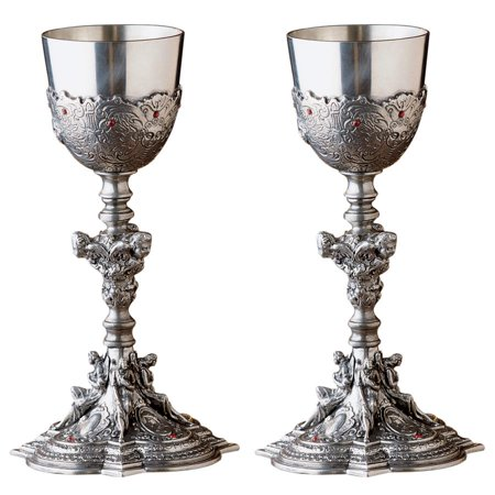 Design Toscano The Florentine Santa Croce Pewter Chalice: Set of Two