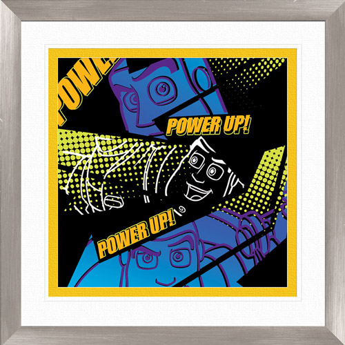 """Pro Tour Memorabilia """"Power Up and Game Up A"""" by Disney, 16.00"""" x 18.00"""""""