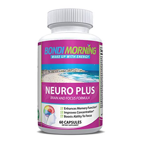 Bondi Morning Neuro Plus Brain Function Support. Promotes Focus, Clarity, Energy & Alertness. Nootropic Pills for Optimal Performance. Advanced Slow-Releasing Formula for Lasting Results. 60 Capsules ()