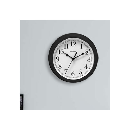 8.5 Round Wall Clock Black Westek Wall Clocks 46991A Black 844220000972
