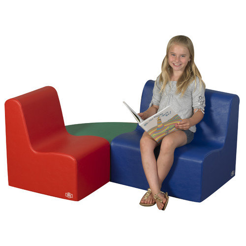 The Children's Factory 3 Piece Kids School Age Learning Seating Set
