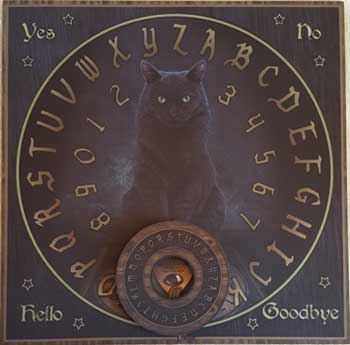 Party Games Accessories Halloween Séance Board Talking Spirit Board Black Cat Familiar (Woodlands Halloween Games)