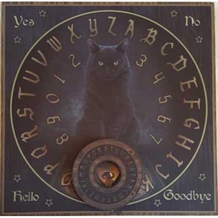 Party Games Accessories Halloween Séance Board Talking Spirit Board Black Cat - Marshmallow Halloween Game