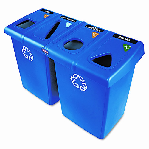 Rubbermaid Commercial Products Glutton 92-Gal Multi Compartment Recycling Bin