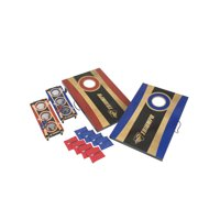 Triumph Tournament 2-in-1 Bag Toss and 3-Hole Washer Toss Combo with 2 Bag Toss Platforms, 8 Bean Bags, Two 3-Hole Washer Boards with Nets and 6 Steel Washers