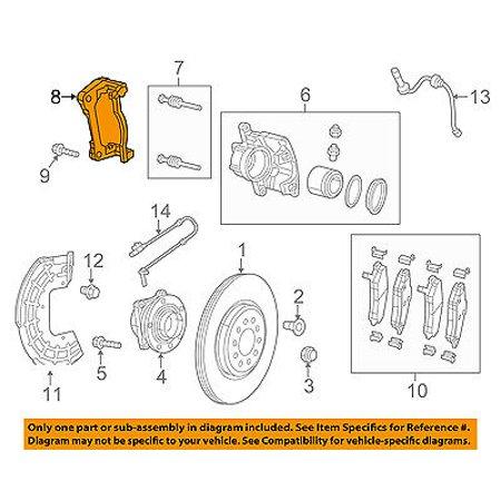 CHRYSLER OEM Brake-Front-Caliper Mount 68160694AC Brake Caliper Mount