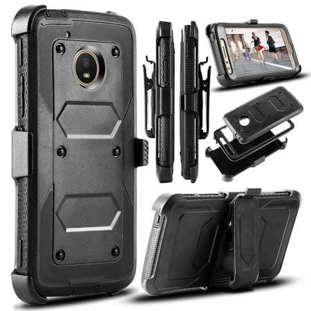Moto E4 Case, Moto G5 Case, Mignova Shockproof Protection Case Cover with Swivel Belt Clip and Kickstand for Motorola Moto E (4th Generation)/Moto G (5th Generation)