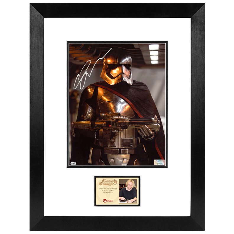 Gwendoline Christie Autographed Star Wars: The Force Awakens Captain Phasma 8x10 Framed Photo