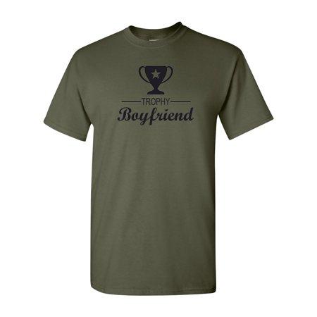 Trophy Boyfriend Funny Saying Mens T-Shirt Top - Halloween Card Sayings For Boyfriend