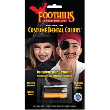 Dracula House Theatre Quality Costume Dental Colors Costume Accessory (Diy Dracula Costume)