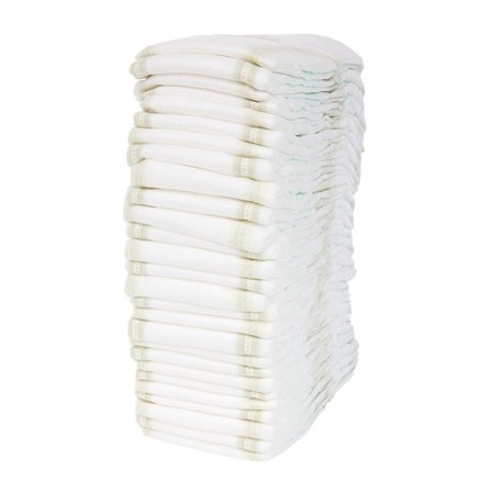 Peel-n-Stick Poster of Isolated Disposable Baby Diaper Nappy Stack Poster 24x16 Adhesive Sticker Poster (Diaper Stack)