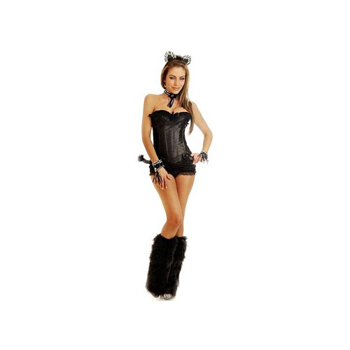 Daisy Corsets Purrfect Pretty Kitty Costume 1809 Black