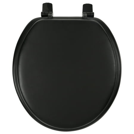 Ginsey Bath Solutions Black Fashion Soft Seat™ Toilet Seat