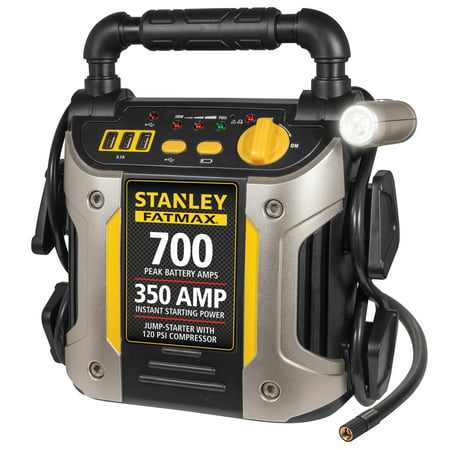 STANLEY FATMAX 700/350 Amp Jump Starter w/120 PSI Compressor (Best Portable Battery Jumper)