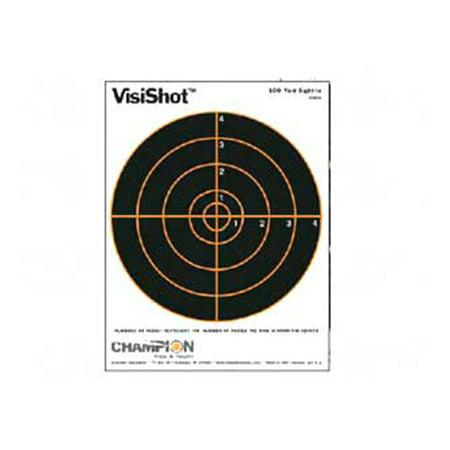 """Champion Traps and Targets VisiShot Target, 8.5""""x 11"""", 8"""" Bullseye, 10pk"""