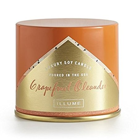 Illume - Luxury Soy Candle Grapefruit Oleander Vanity Tin