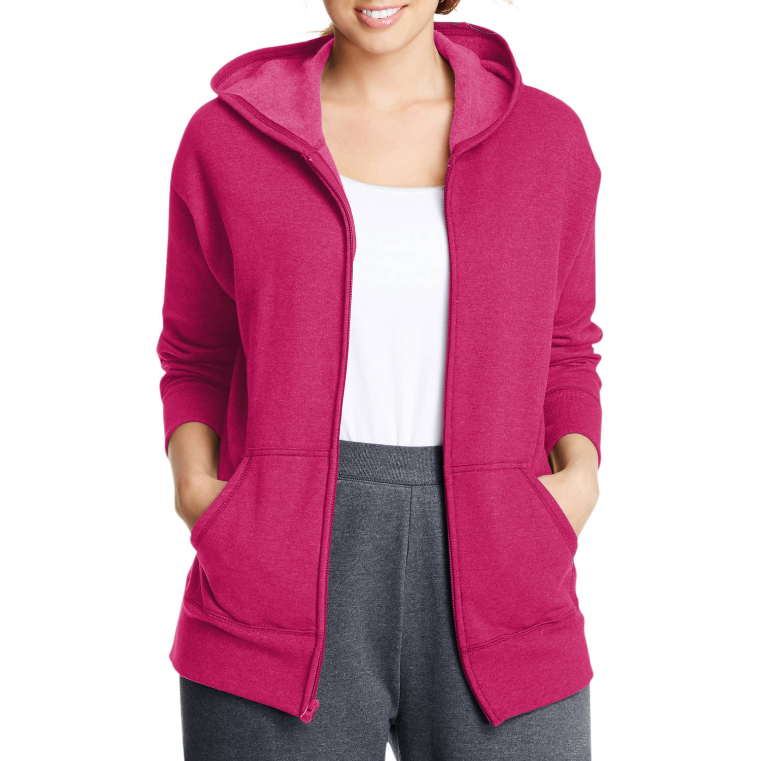 Just My Size Women's Plus-Size Fleece Zip Hoodie