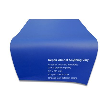 - Pogo Vinyl Strip for Inflatable Bounce House Repair Commercial Grade, Blue
