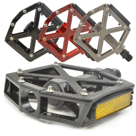 - Lumintrail PD-603B MTB BMX Road Mountain Bike Bicycle Platform Pedals Flat Alloy 9/16