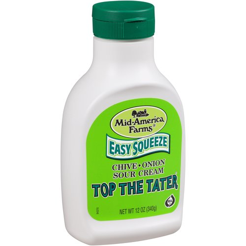 Mid-America Farms Easy Squeeze Top the Tater Chive & Onion Sour Cream, 12 oz