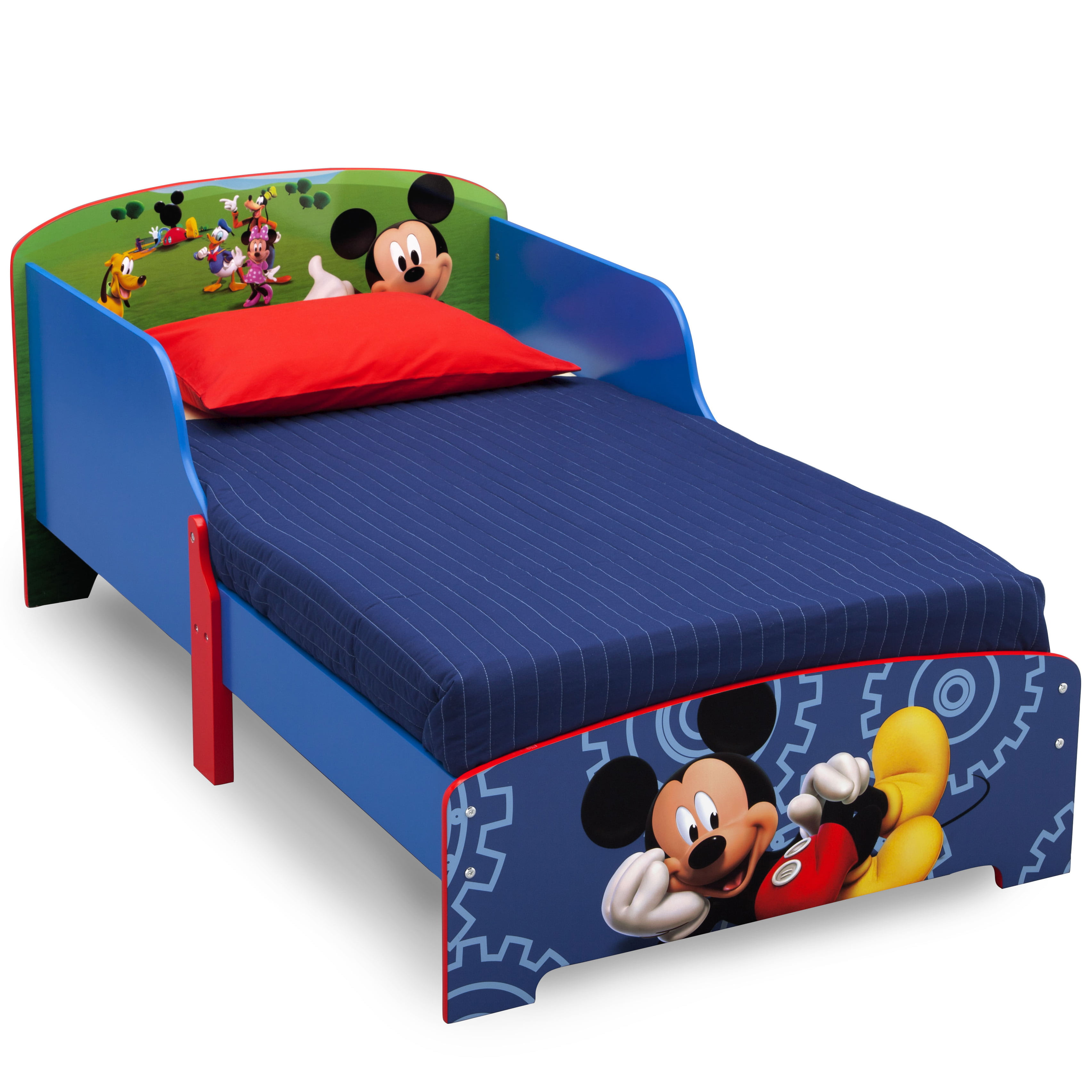 Mickey Mouse Wooden Toddler Bed - Walmart.com