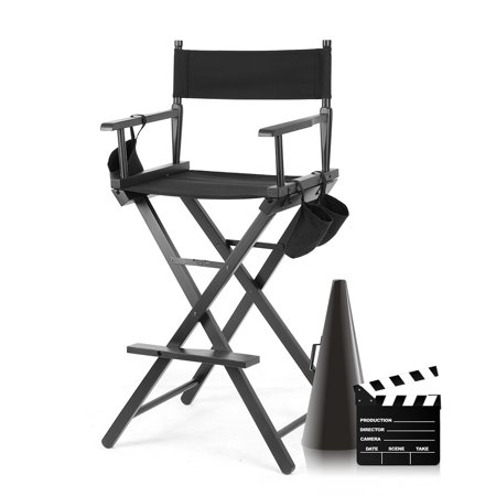 Wood Foldable Chair Professional Makeup Artist Directors Chair Lightweight with Comfortable High Seating Position and Better View