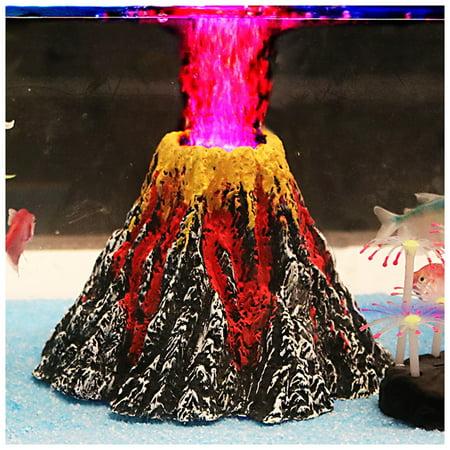 Bubble Water Fairy Aquarium Landscape Stone Volcano Plants Decoration Specification:Large volcanic (Bubbles Aquarium Water)