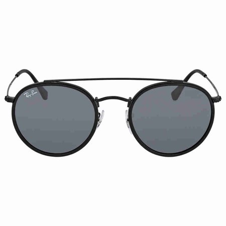 Ray-Ban Unisex RB3647N Round Double Bridge Metal Sunglasses, 51mm (Gold Und Schwarze Ray Ban Aviators)