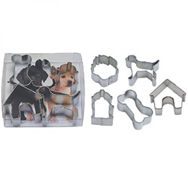 Miniature Dog Tin Cookie Cutter 5 Pc Set L1871b
