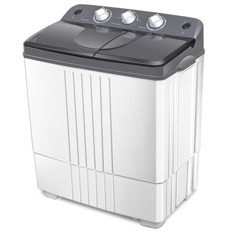Costway Portable Mini Compact Twin Tub 16Lbs Total Washing Machine Washer Spain
