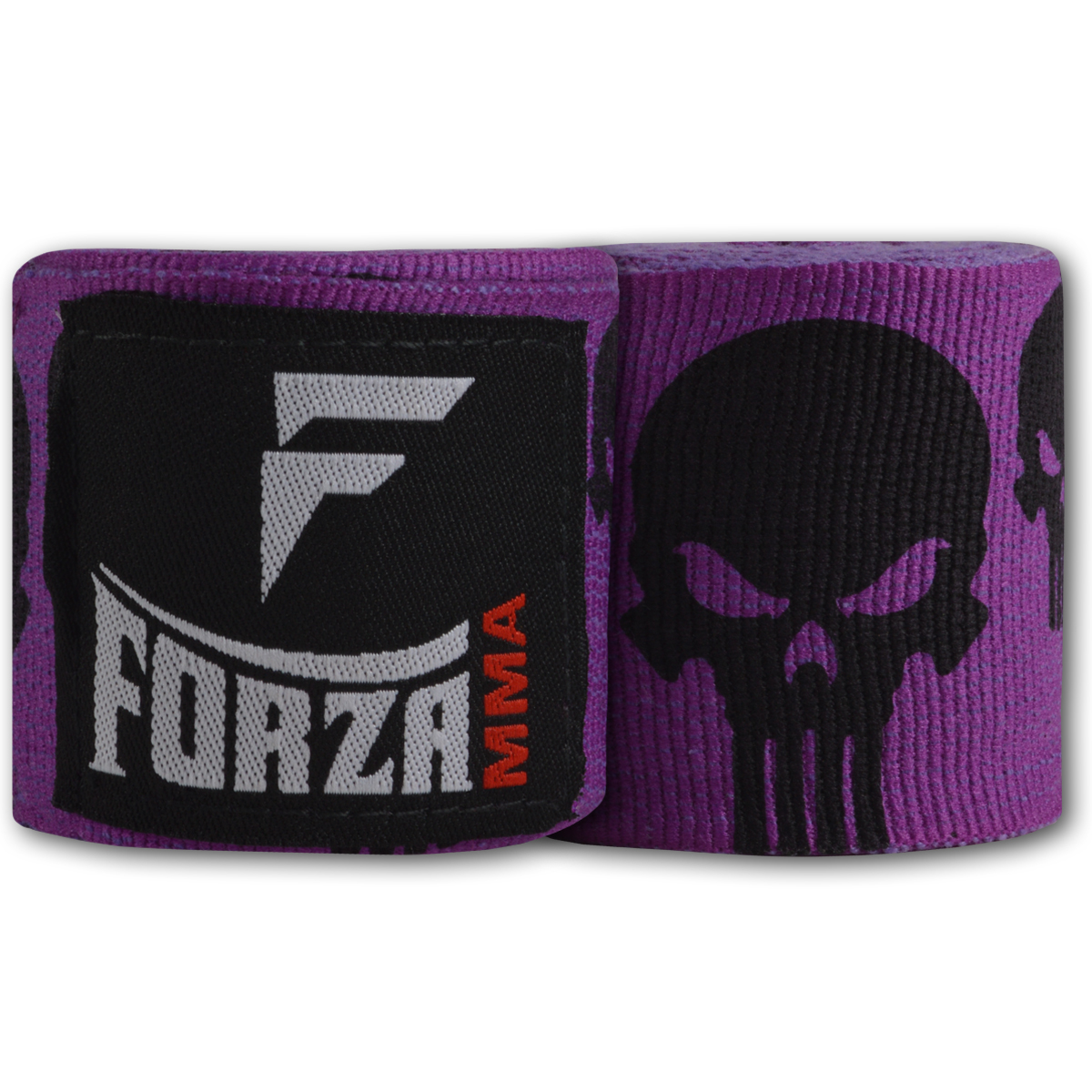 """Forza Sports 180"""" Mexican Style Boxing and MMA Handwraps - Skulls Purple"""