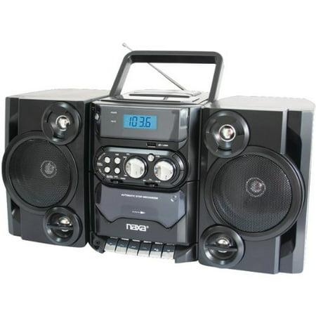 NAXA NPB428 Portable CD/MP3 Player with AM/FM Radio, Detachable Speakers, Remote & USB Inputs by Naxa Electronics ()