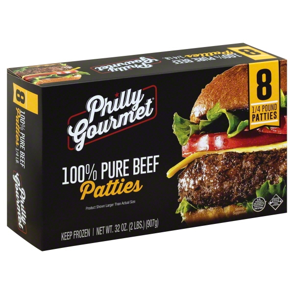 Philly Gourmet Pure Beef Patties, 2 lb