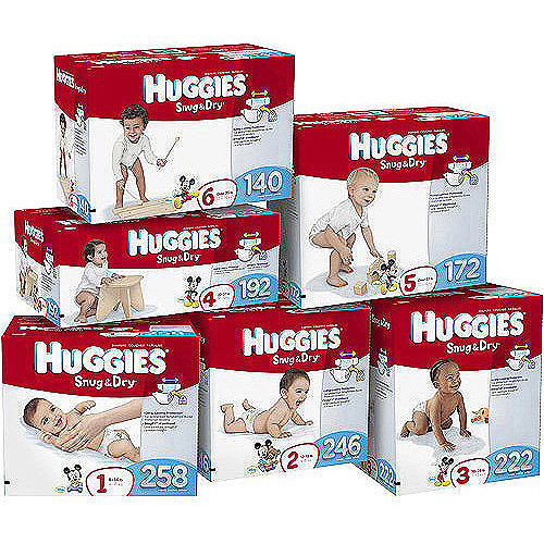 Kimberly-clark Huggies Snug & Dry Diapers, Size 1, 258 Count
