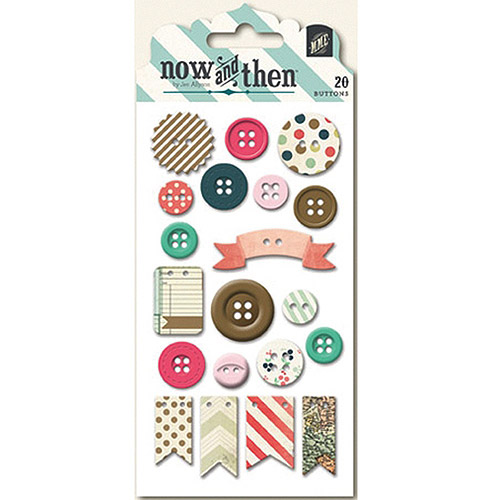 Now and Then Mildred Decorative Buttons, Oh Happy Day