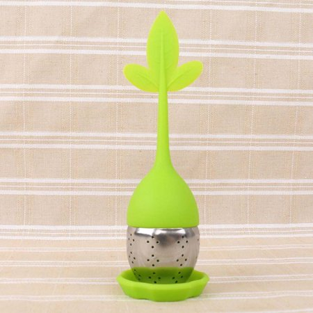 AkoaDa Silicone Tea Infuser Loose Floating Leaf Filter Strainer Stainless Steel