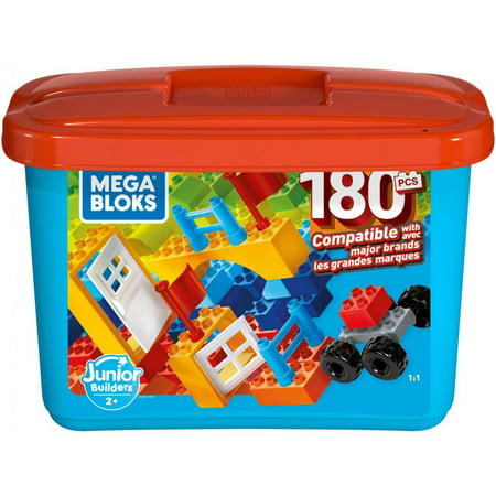Mega Bloks Mini Bulk Large Tub, Multi-Colored with 180-Pieces