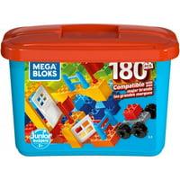Mega Bloks Mini Bulk Large Tub, Multi-Colored with 180-Pieces