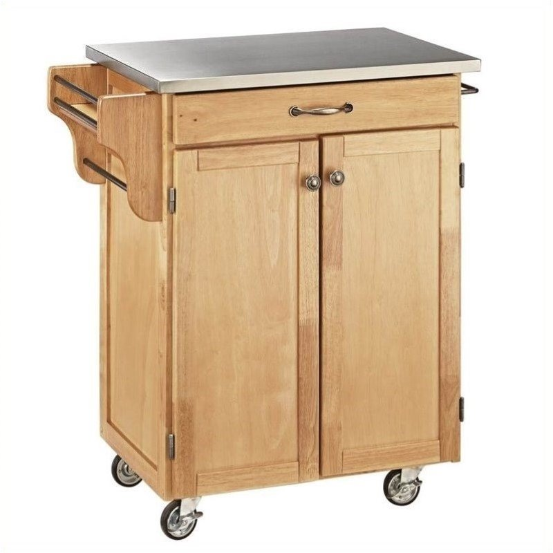 Hawthorne Collections Stainless Steel Top Kitchen Cart in...